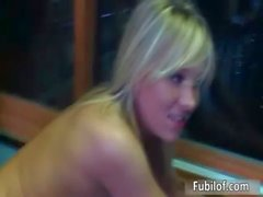 Several hot amateur blonde girls getting
