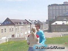 Slutty french girlfriend road trip sex part3