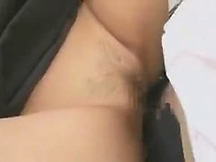 Foxy Asian office slut gets her bald cunny banged and finge