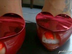 Brazilian Fotfetisch & Goddess Grazi Visa fötterna ( sammanställning)