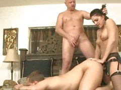 Roxanne Hall fuck the hunk guy with her strap on