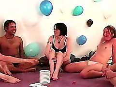 Truth or dare game for naked amateurs at party