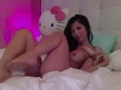 Asian babe on solo webca - view my account for more wicked videos