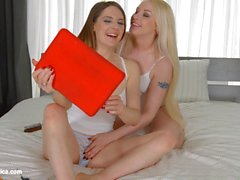 Internet Love by Sapphic Erotica lesbian love porn with Samantha Bentley Lola Taylor