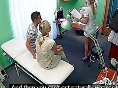 Dude caught fucking nurse in hospital