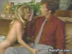 Hairy Blonde Fucking On A Couch Classic