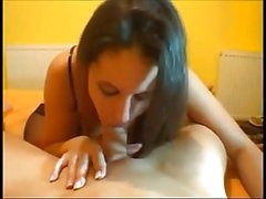 Cute brunette fucked on real homemade