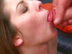 Luscious Lisa Marie gets a mouth full off warm spunk
