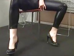 Shiny babes as in tight shiny leggings