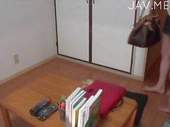 School girl drills by her teacher 05