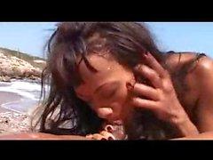 Nude Beach - Hot Ebony Fucking