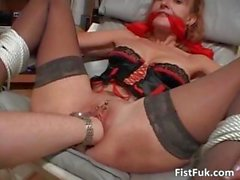 Mature redhead in lingerie gets her part4