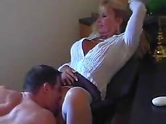 Hot cougar that was blonde gets fucked