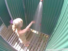 Amazing Czech Blonde in Pool&180s Shower