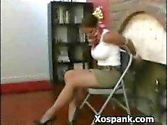 Verbazingwekkende Vrouw Spanked Horny