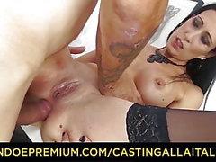 CASTING ALLA ITALIANA - Итальянский любительский пупсик получает анальный секс