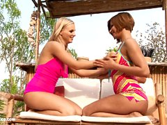 Poolside Oralists by Sapphic Erotica - lesbian love porn