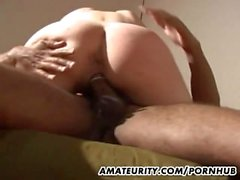 Amateur girlfriend interracial fuck with cum in mouth