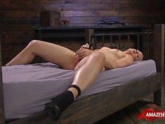 hot pornstar dildo machine and orgasm video
