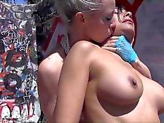 Mermaid beauty bags herself a lesbian sailor