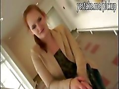 Redhead picked up at mall for public sex