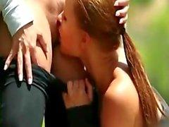 Eve Angel och Joen går ut igång och har lesbisk sex