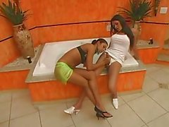Nice Tanned Latinas Pussy Fuck