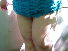 Fatty Russian Girl Pissing On Tights And Leg