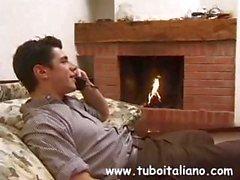 Italian housewife Laura humps her husband's throbbing boner