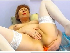53-Year Mature In Tights Private Present