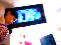 aficionado en acceso tetas parpadeantes ible en la webcam en directo