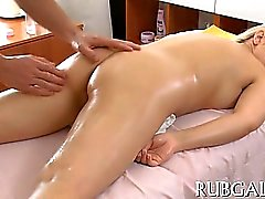Massage erlangt Sex ausgetauscht