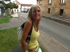 Naked teen girl gets fucked sideways