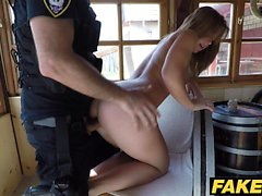 Fake Cop She loves fucking a cop cowgirl