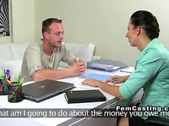 Handyman fucking female agent
