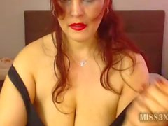 Pretty red head BBW fisting herself pussy
