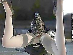 Bandante nana animé en 3D fait défoncer