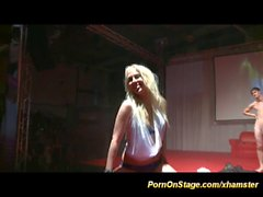 crazy sex show on public stage