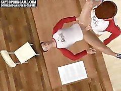 Téton bande dessinée en 3D corné se faire défoncer après la classe