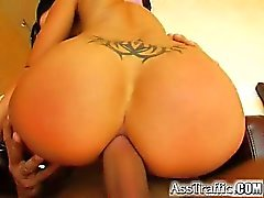 The sexy big titted Niky is back at Asstraffic. This time she is in all black with PVC boots. She gets her ass fucked and swallows a load of cum