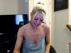 European blonde babe bangs big cock in bedroom