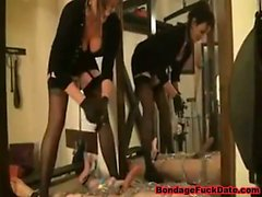 Chain Bondage by Lady Eviana and Body Trampling p2