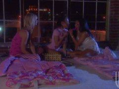 Brooke Banner Maya Gates and Renae Cruz play with vibrator