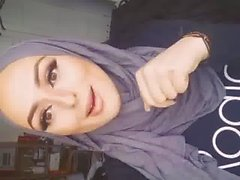 sexy hijab woman talks