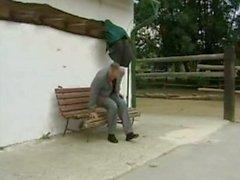 Sandra Brust fucks a stranger on a bench