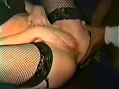 Mature slut gangbanged within the theatre
