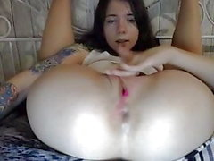 Teen babe nice wet pussy small tits fucking ass with dildo