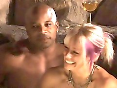 Remarkable swinger party with hardcore interracial sex