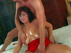 Granny Alma gets her hairy snatch fucked by young man