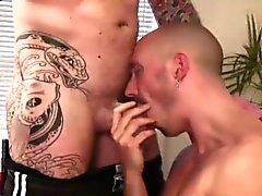 Huden huvudet suger dick och knullar hård anal